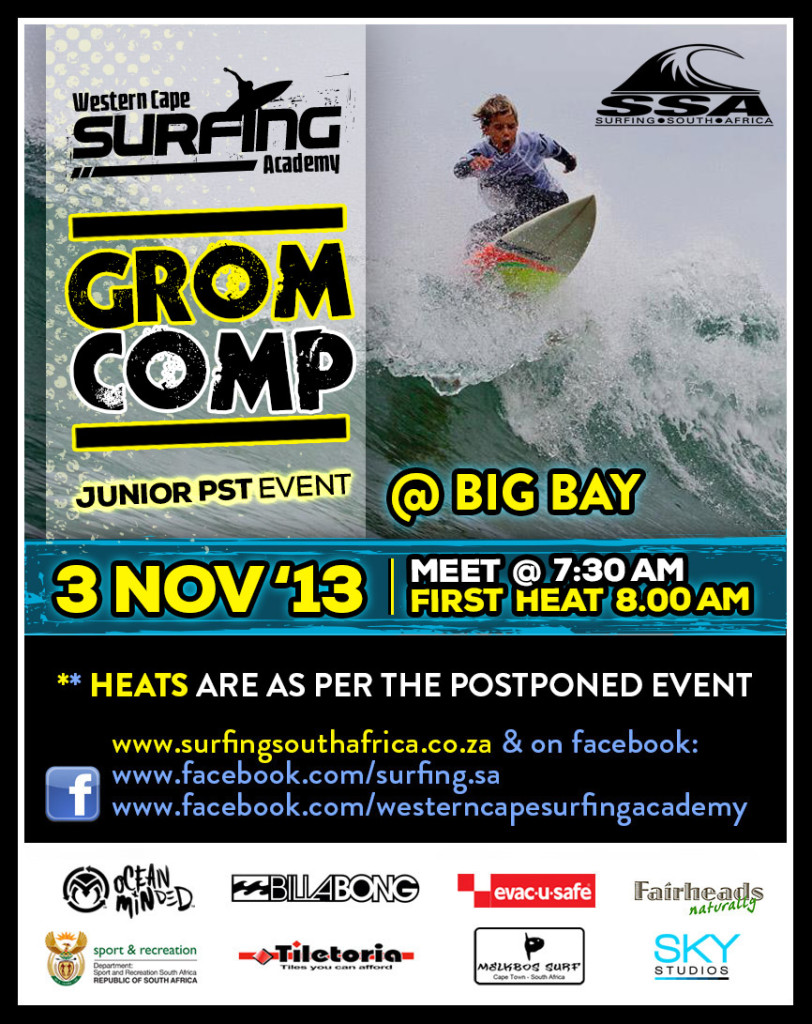 WCSA Surf Club Grom Comp Western Cape