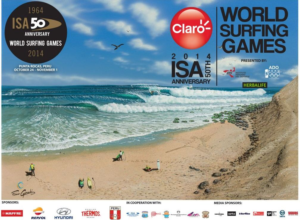 Follow the South African Surfing Team at the Claro ISA 50th Anniversary World Surfing Games in Peru