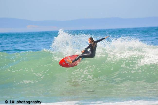 Western Province surfer Pippa Jones is the top local surfer in the U16 Division. Photo LW