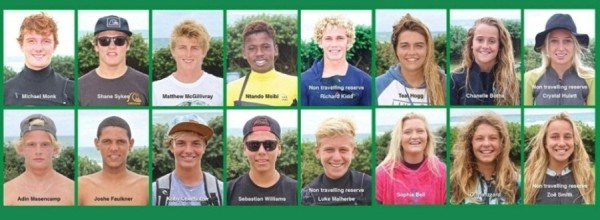 2015 South African Junior Surfing Team announced