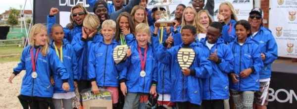 Cape Town team win the Mandela Bay Trophy for the fourth year in a row at the 2015 Billabong Grommet Games in Port Elizabeth