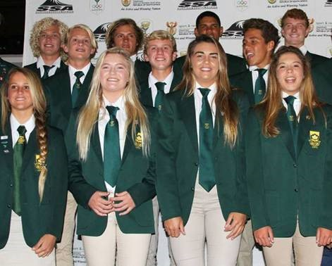 Pictured: The 2015 South Africa Junior Surfing Team prior to departure for the Vissla ISA World Junior Championships in Oceanside California which starts on Saturday Photo: Surfing South Africa