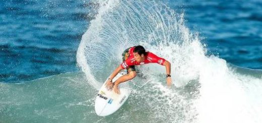 Mihimana Braye (PYF) was one of the top performers among the elite international field in action at the 2016 Ballito Pro on Monday Photo: WSL / Cestari