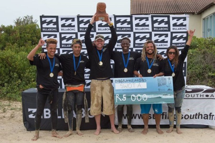 Muizenberg based SWOT Surf Club take honours in the 2017 Billabong National Interclub Championships