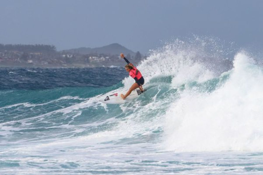 Sophie Bell Does the Double Despite Shark Incident at Buffalo City Surf Pro presented by Reef Wetsuits