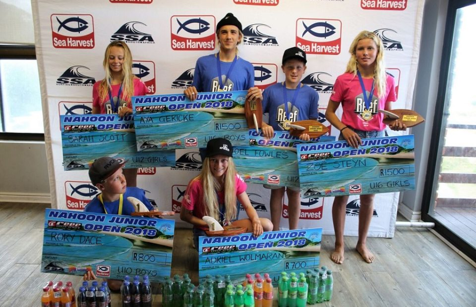 Shark attack disrupts contest as SA Surf Tour U16 ratings leaders Zoe Steyn and Aya Gericke take honours at the Reef Wetsuits Nahoon Junior Open presented by Sea Harvest and Twizza