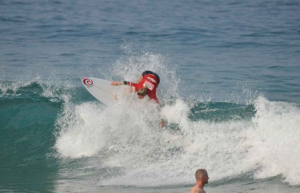 Kayla Nogueira and Luke Thompson win the U16 Girls and Boys titles respectively at the Sea Harvest South Coast Gromcomp presented by South Coast Tourism in St Mikes