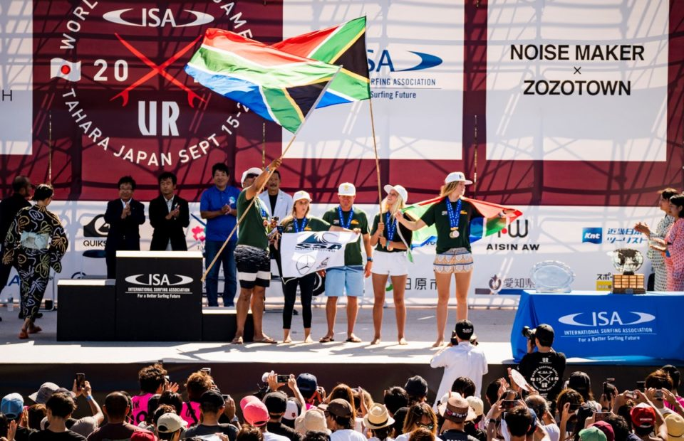 Mercedes-Benz Buffalo City Team wins a copper medal for fourth place overall and Bianca Buitendag wins bronze at the ISA World Surfing Games in Japan