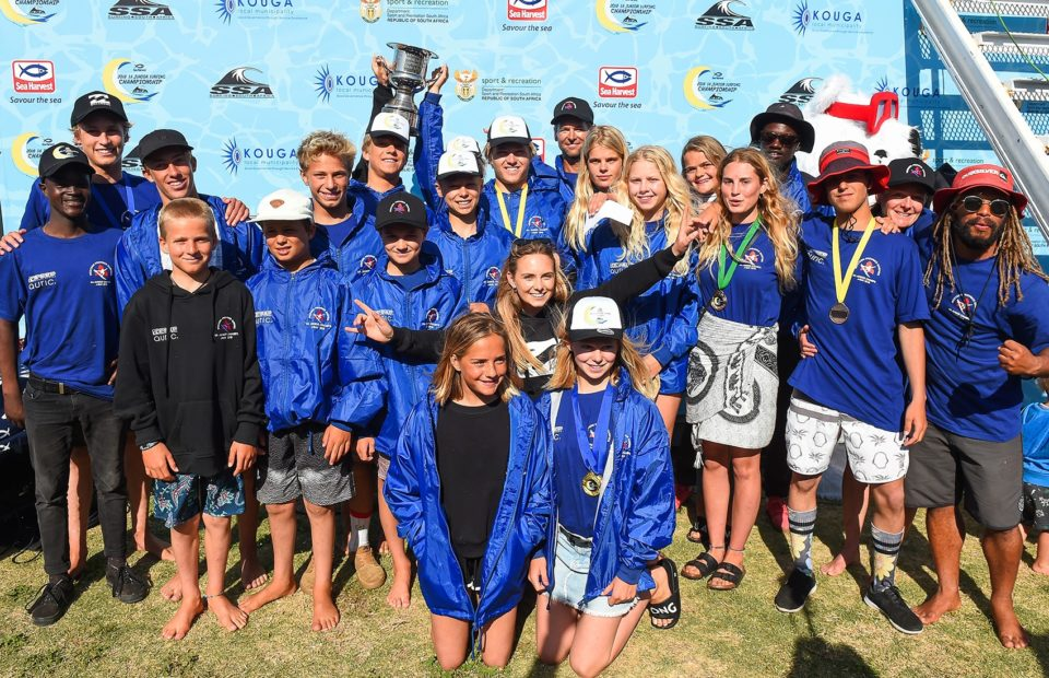 Cape Town Surfriders win Freedom Cup at Sea Harvest SA Junior Surfing Championships in Jeffreys Bay