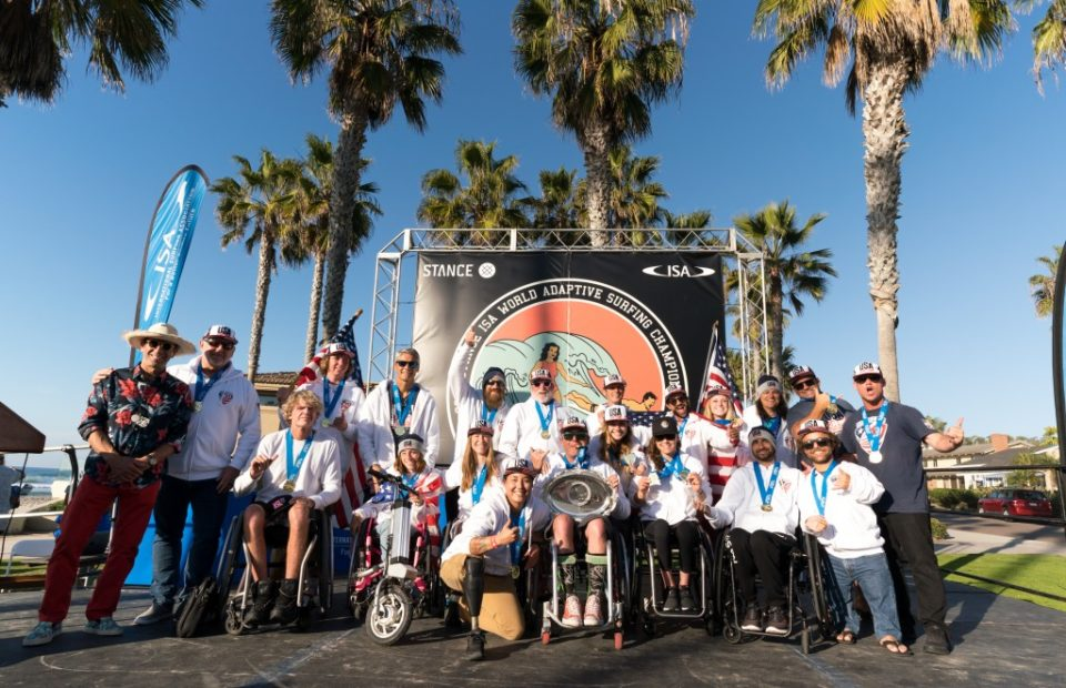 Team USA Wins Historic First Gold Medal at 2018 Stance ISA World Adaptive Surfing Championship